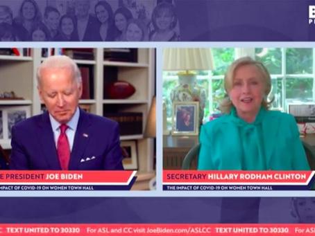 SLEEPY JOE: Joe Biden appears to fall asleep while Hillary Clinton endorses him for president