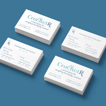 Crochet Rx: Logo and Business Card Design Project