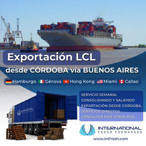 Exportación desde Córdoba LCL