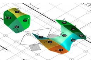 Vue isométrique de la structure déformée