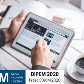 DIPEM 2020/2019 - Declaração de Investimentos em Pesquisa Mineral