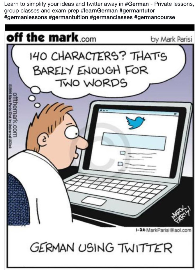 140 Characters? Learn to twitter in German