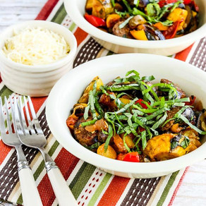 Low Carb Ratatouille Wanna-Be-Stew with Italian Sausage