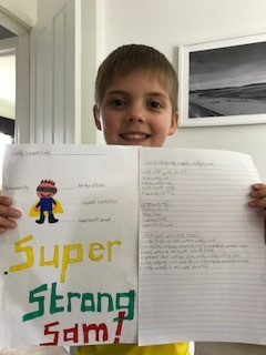Great superhero instructions from Ollie (2SM)