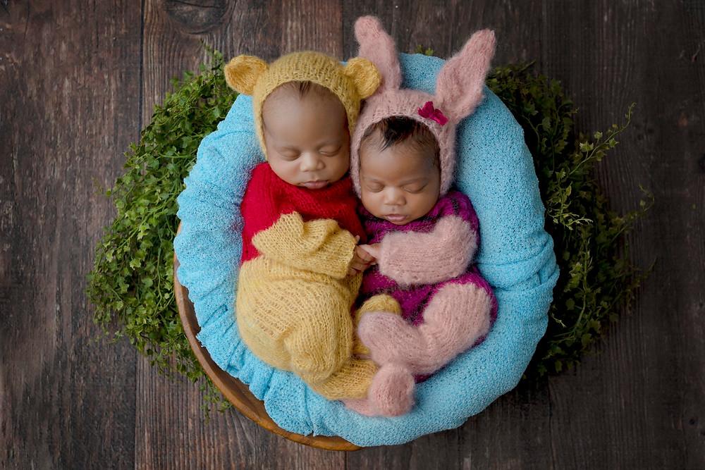 Newborn Twin Photo Shoot Newport Beach CA