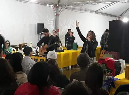 Márcia Funke Dieter na feira do livro de Soledade