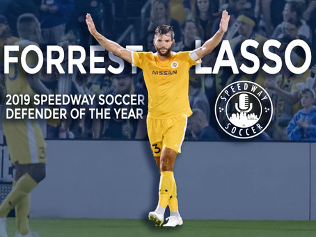 Forrest Lasso Named 2019 Speedway Soccer Defender Of The Year