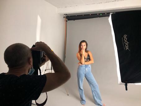 Séance photo pour Cécile au studio de Lyon