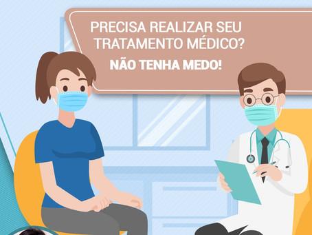 Precisa realizar seu atendimento médico? Não tenha medo!