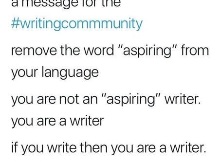 YOU *ARE* A WRITER!