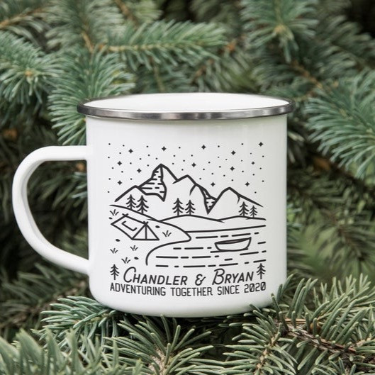 Travel couple quote and mug