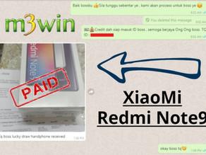 M3win Lucky Draw - XiaoMi Redmi Note9