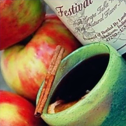 Lanthier Winery's Festival Cherry Wine, Apples, Cinnamon, mug