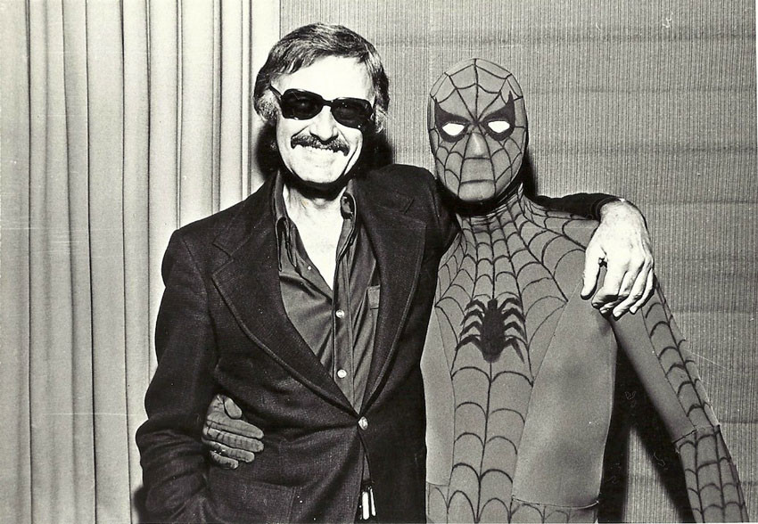 Stan Lee and Spiderman
