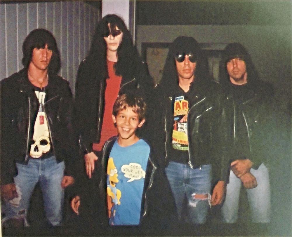 Author Ben Merlis with The Ramones
