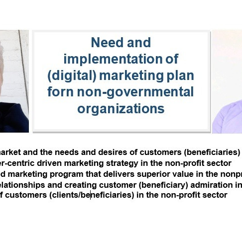 Need and implementation of a digital marketing plan for non-governmental organizations
