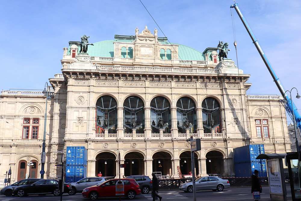Outside of the Vienna State Opera house
