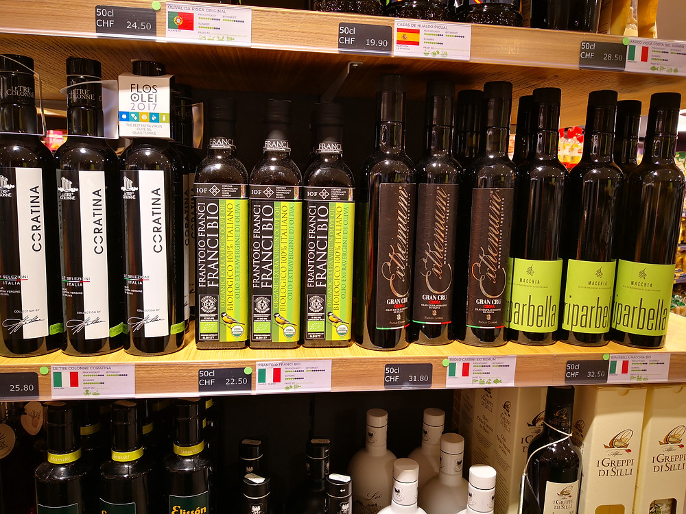 Wonderful range of olive oils at G. Coldebella AG in Stans