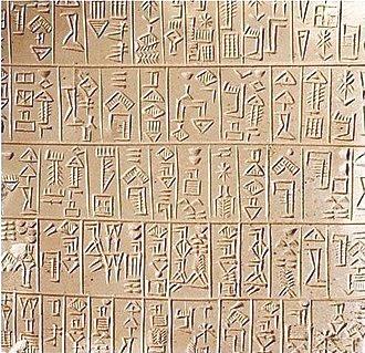 Earliest written language
