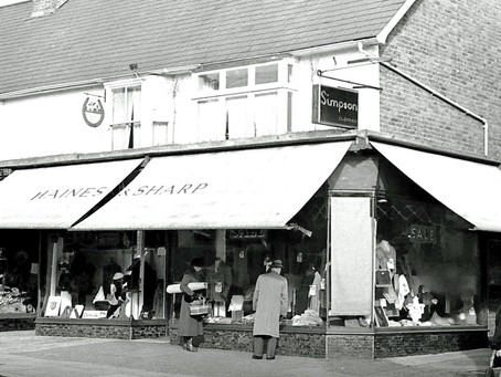 1926: Haines and Sharp Tailors and Outfitters opens in South Road Haywards Heath