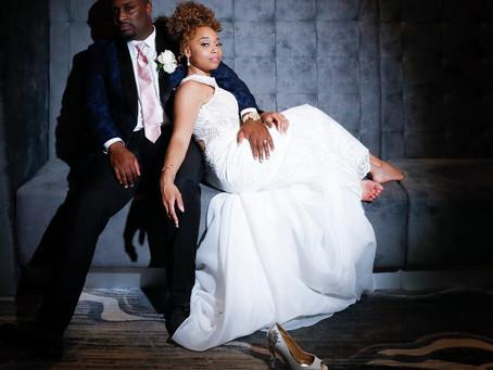Darnell + Ellen's Swanky Hilton Wedding