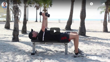 Chest fly with dumbbells