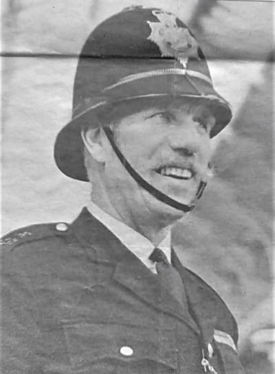 In my police uniform, c. 1970.