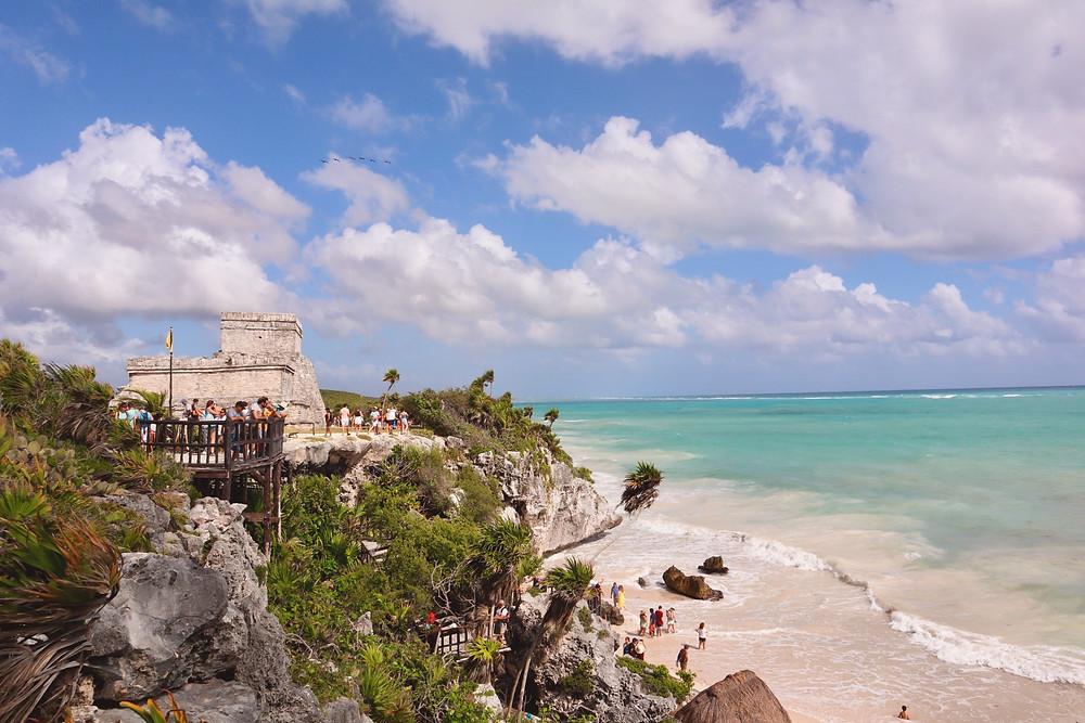 Secret beach at Tulum Mayan Ruins Mexico by Biteinerary