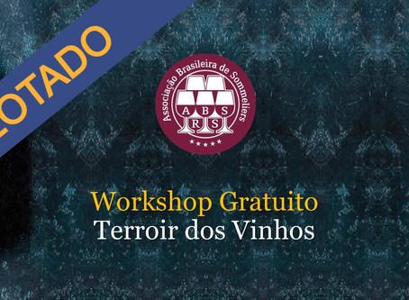 LOTADO - Workshop Gratuito - Como a Degustação Revela a Influência do Terroir nos Vinhos