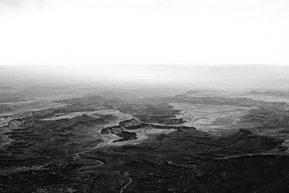 Mesa Valley at Canyonlands National Park near Moab, UT at sunrise
