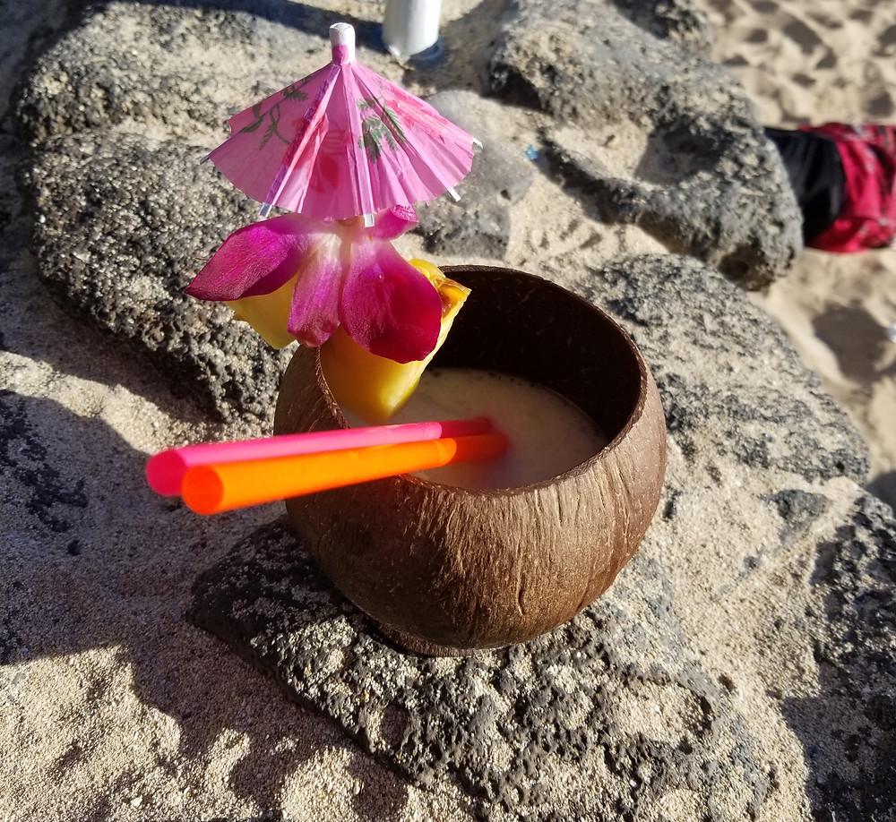 my favorite drink at Waikiki Beach