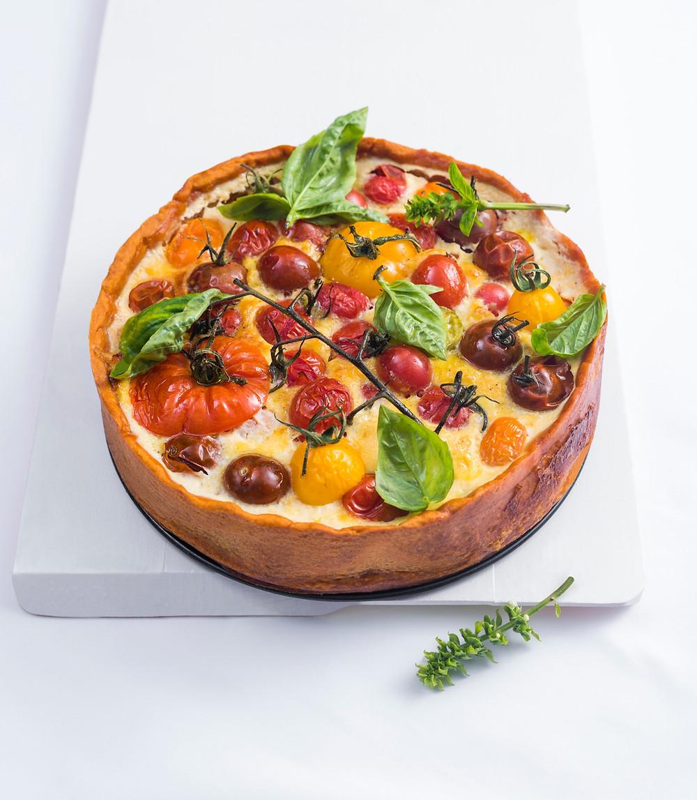 Kišas su kalakutiena ir pomidorais, VMG receptai