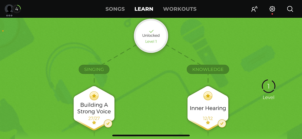 yousician app learn page