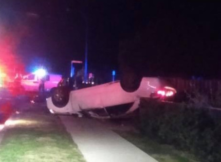 Stolen car crashes leaving South Tamworth without power overnight, driver on the run