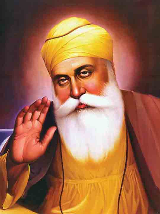 There is no actual picture or painting of Guru Nanak, all paintings we see today are artist's imagination and impression.