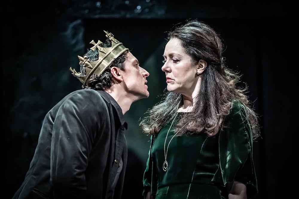 Tom Mothersdale (Richard) and Derbhle Crotty (Elizabeth) in Richard III Picture Marc Brenner