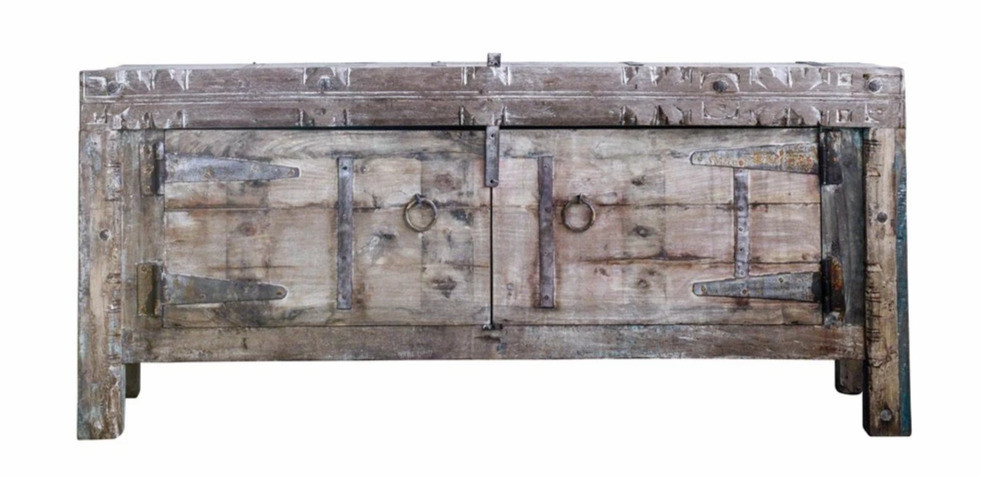 Reclaimed Wood & Metal Console at ShopJMHome.com