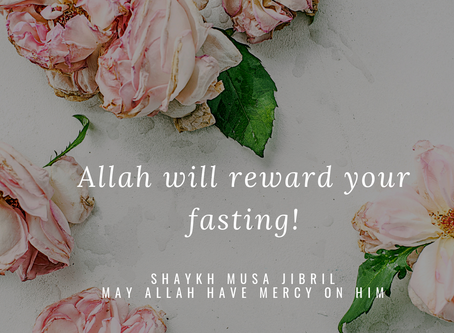 Fasting is For Allah