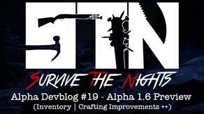 Alpha Devblog #19 - Alpha 1.6 Preview (Inventory | Crafting Improvements ++)