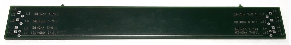 Рис.2 Пример тест-купона для выполнения контроля импедансов