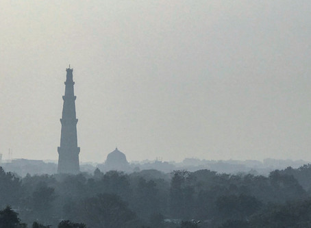 The Beautiful Delhi I remember - the beautiful glimpse of the Qutub brought to life.
