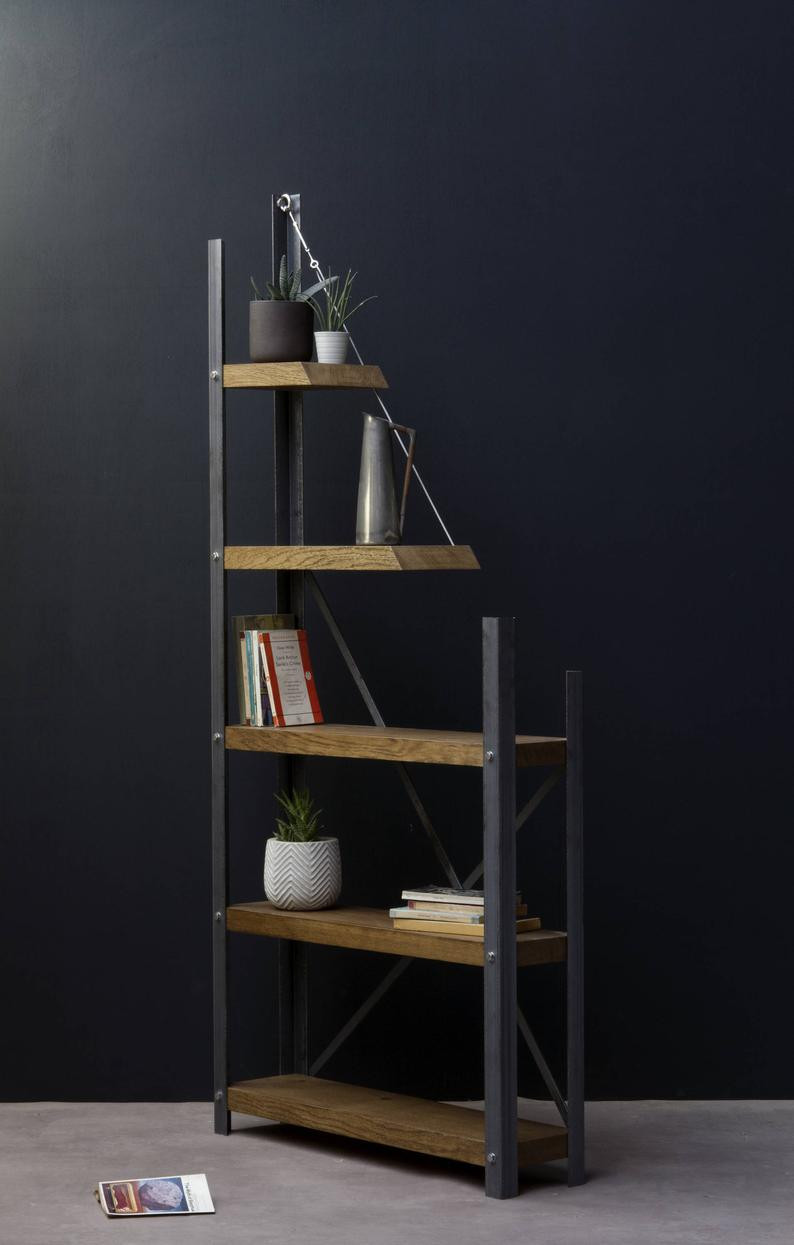 artistic looking sustainable bookshelf