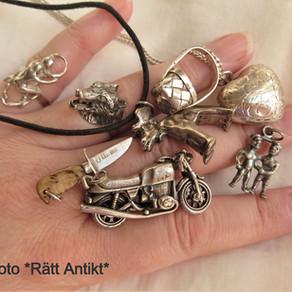Små konstverk i silver
