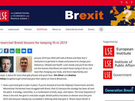 Brexercise! Brexit lessons for keeping fit in 2019