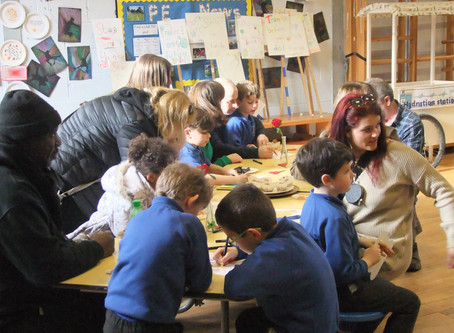 Year 3 geographers helped raise awareness of climate change to their adults this afternoon. Impact!