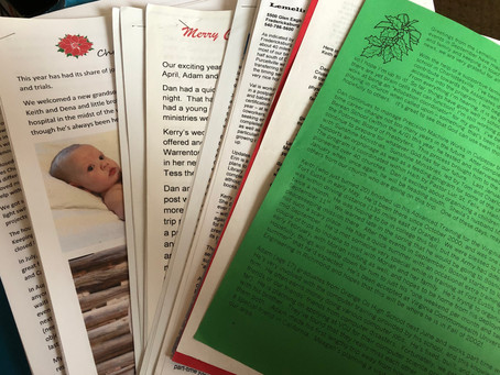 Christmas Cards and Letters
