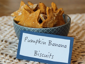 pumpkin banana biscuits for dogs