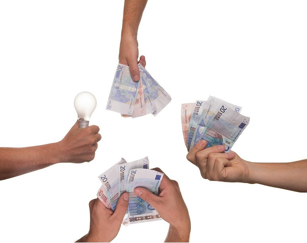 money is in hand