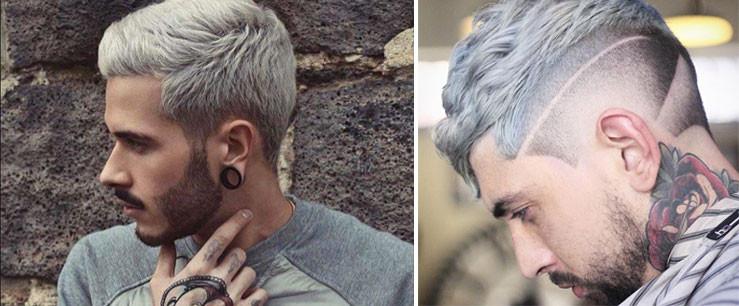 Tendances coiffures 2018 - cheveux gris et blond polaire