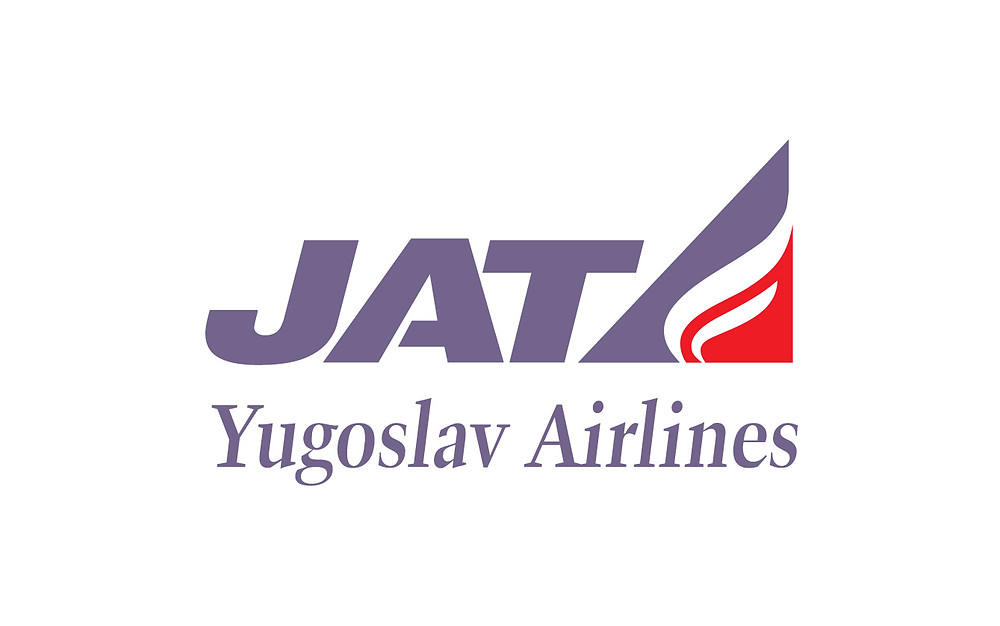 Logo JAT Yugoslav Airlines Vector
